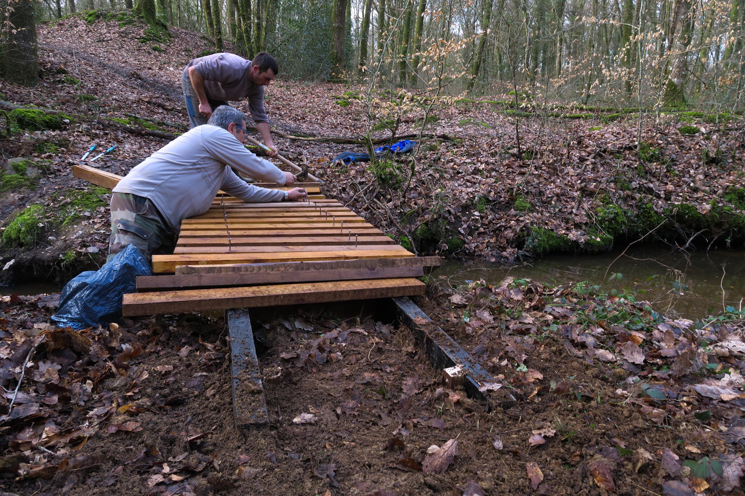 2018-03-10 Fabrication passerelle forêt Rennes
