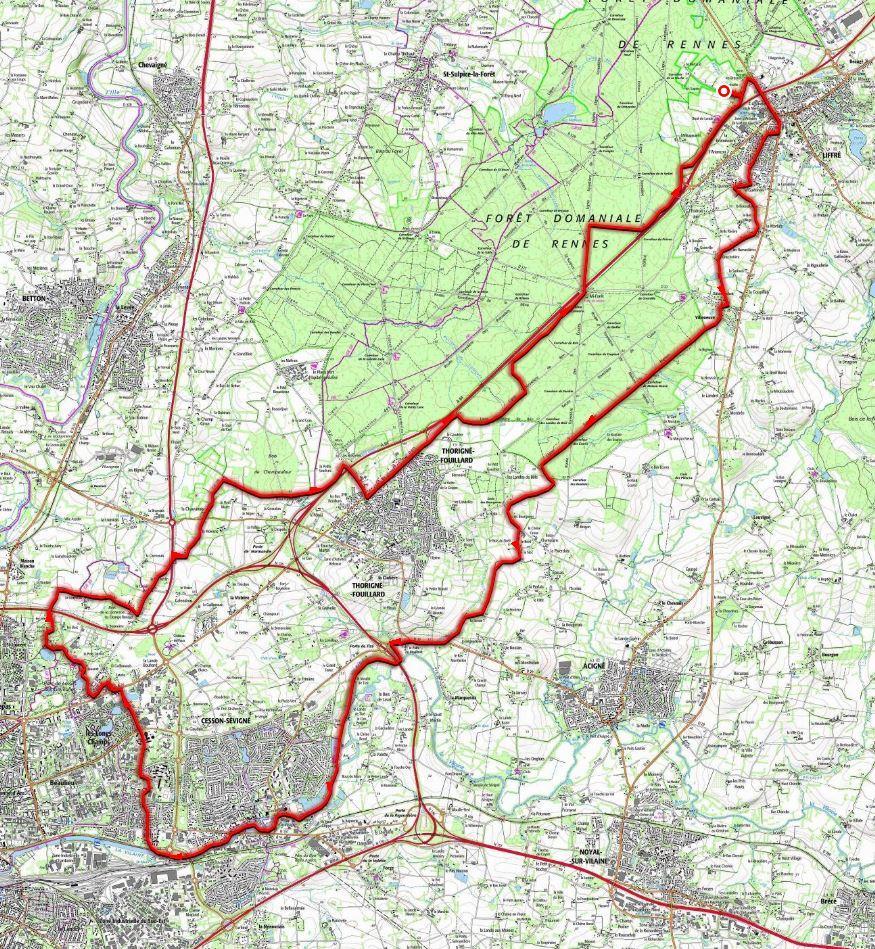 Balade a rennes 43km