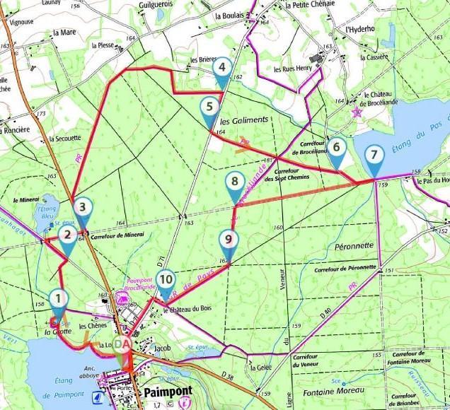 Circuit pedestre paimpont 9 5 km