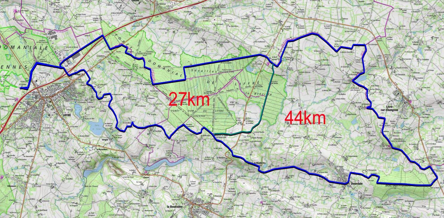 Livre sur changeon 43km